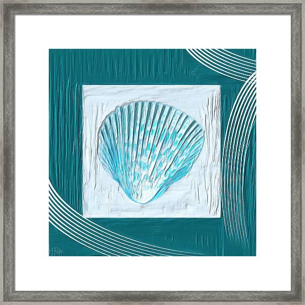 Turquoise Seashells Xxiii Framed Print