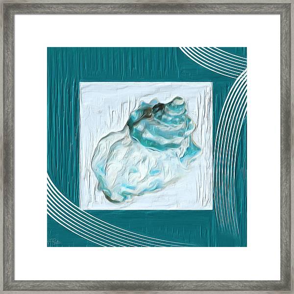 Turquoise Seashells Xxiv Framed Print