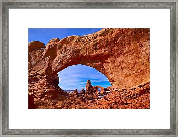 Turret Arch Through North Window Framed Print
