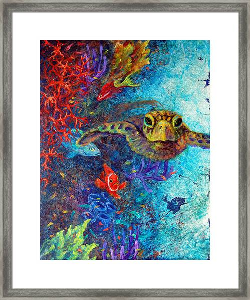 Turtle Wall 2 Framed Print