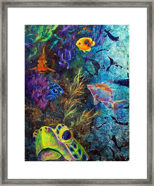 Turtle Wall 3 Framed Print