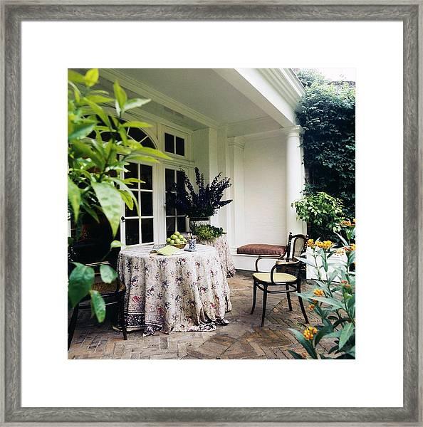 Turville Grange Patio Framed Print