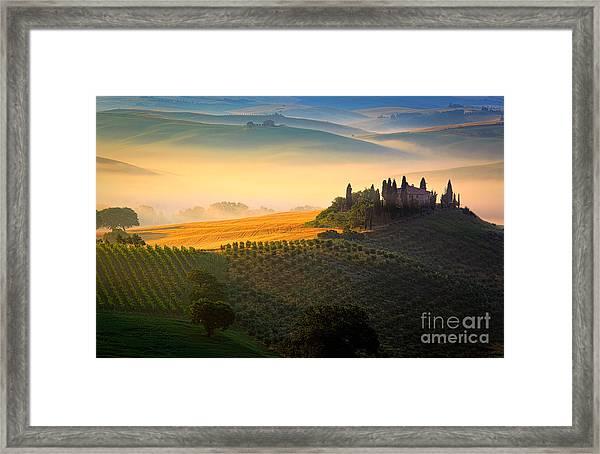 Tuscan Dawn Framed Print