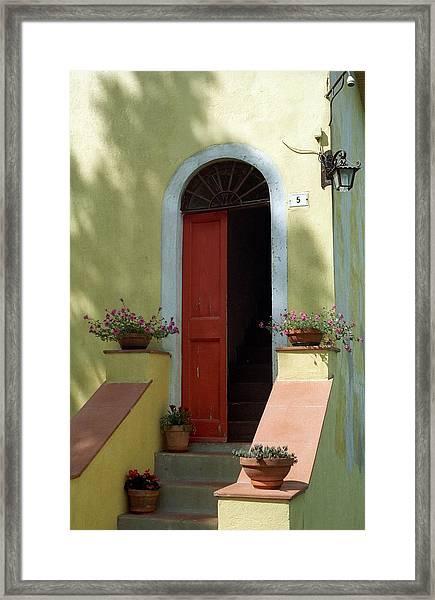 Tuscan Door Framed Print
