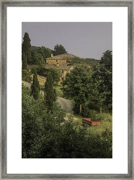Tuscan Estate Framed Print