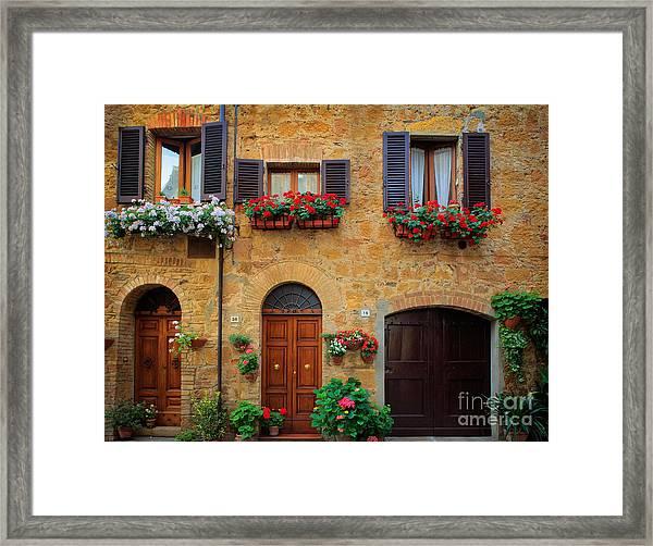 Tuscan Homes Framed Print