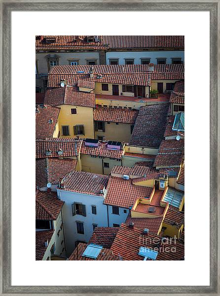 Tuscan Rooftops Framed Print