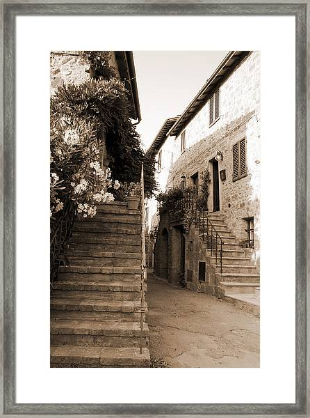 Tuscan Stairways 2 Framed Print