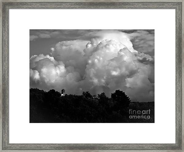 Tuscan Storm Rising From The Valley Framed Print