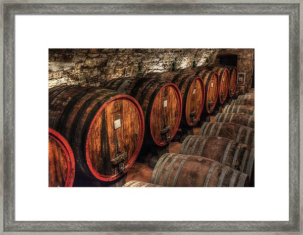 Tuscan Wine Cellar Framed Print