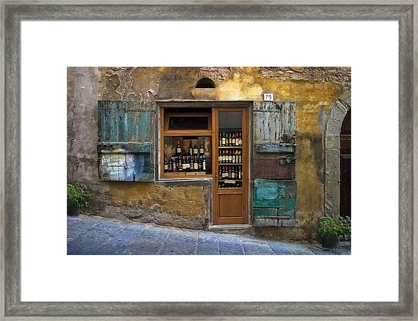 Tuscany Wine Shop Framed Print