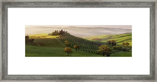 Tutte Le Strade Portano A Belvedere Framed Print