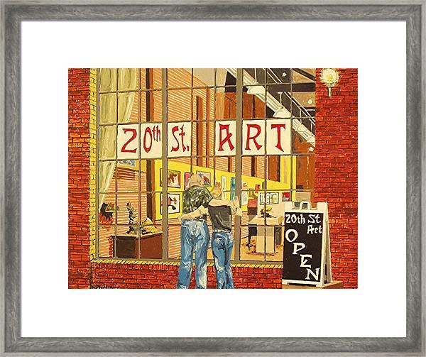 Twentieth Street Gallery Lavender Heights Version Framed Print by Paul Guyer