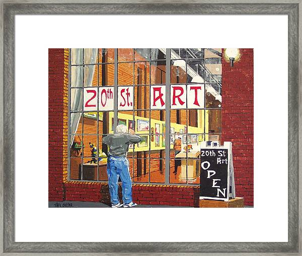 Twentieth Street Gallery Framed Print by Paul Guyer