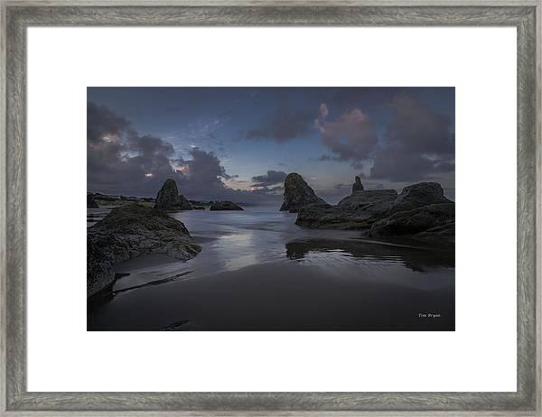 Twilight At Bandon Framed Print