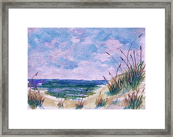 Twilight Beach Framed Print