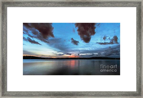 Twilight On Lake Lanier Framed Print