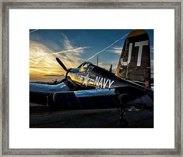 Twilight Corsair Framed Print