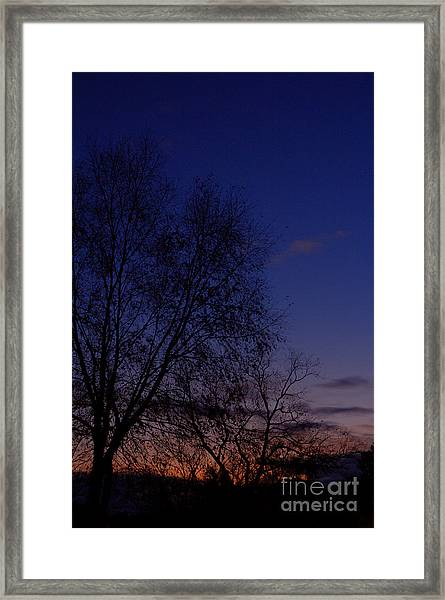 Twilight Crack Of Dawn Framed Print