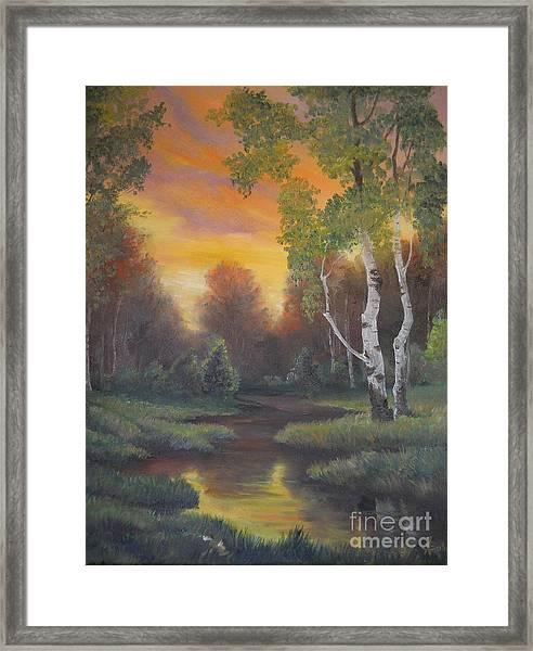 Twilight Fall  Framed Print