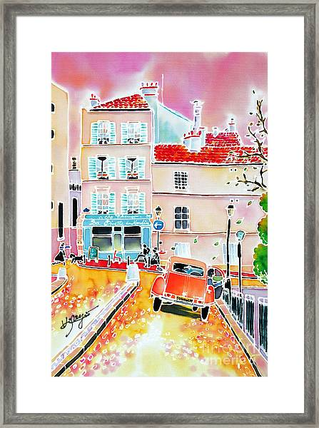 Twilight Montmartre Framed Print