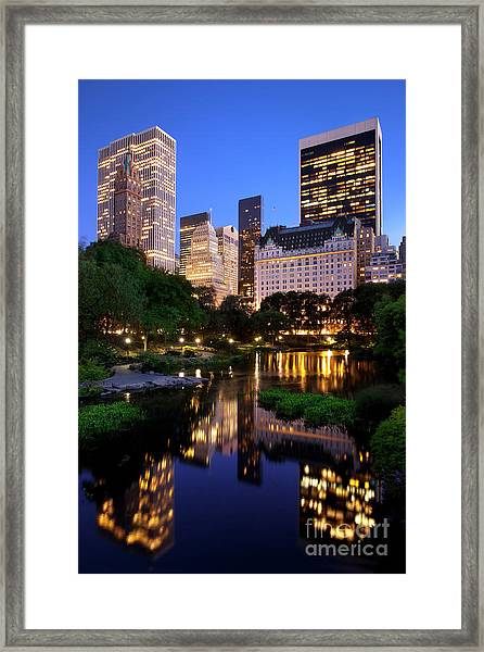 Framed Print featuring the photograph Twilight Nyc by Brian Jannsen