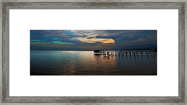Twilight On The Neuse River Framed Print