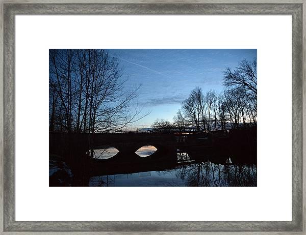 Twilight On The Potomac River Framed Print by Bill Helman