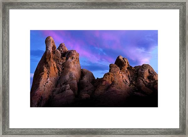 Twilight On White Dome Framed Print