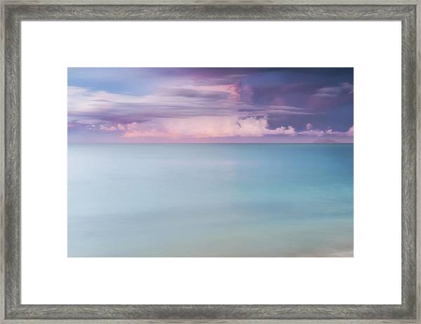 Twilight Over The Atlantic Framed Print
