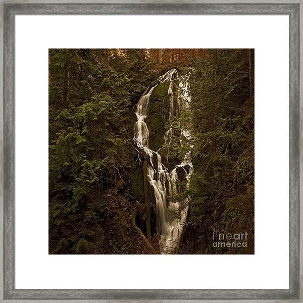 Twilight Waterfalls  Framed Print
