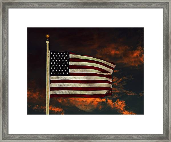 Framed Print featuring the photograph Twilight's Last Gleaming by David Dehner