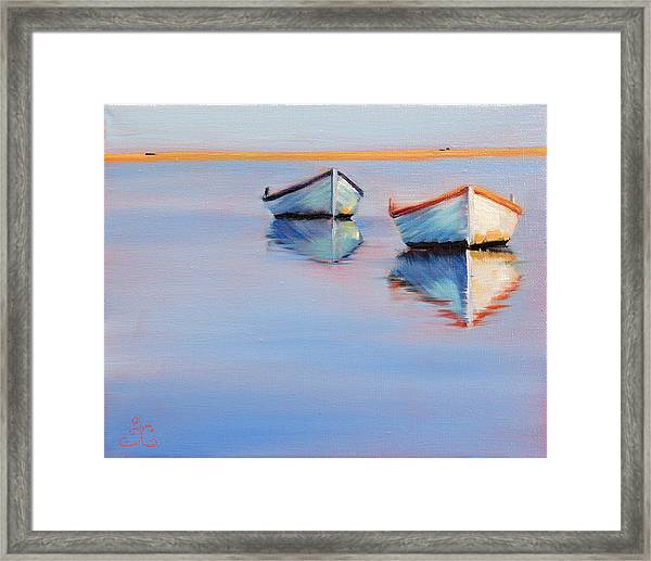 Twin Boats Framed Print