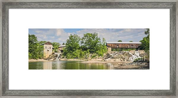 Twin Bridges North Hartland Vermont Framed Print