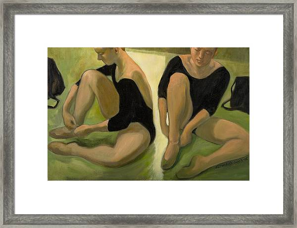 Twin Dancers Framed Print