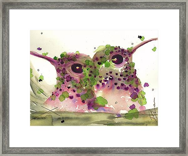 Twin Hummers Framed Print