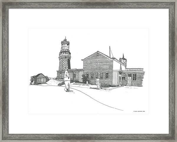 Twin Lights Atlantic Highlands Framed Print