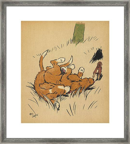 Twin Puppies, Snip And Snap, Manage Framed Print