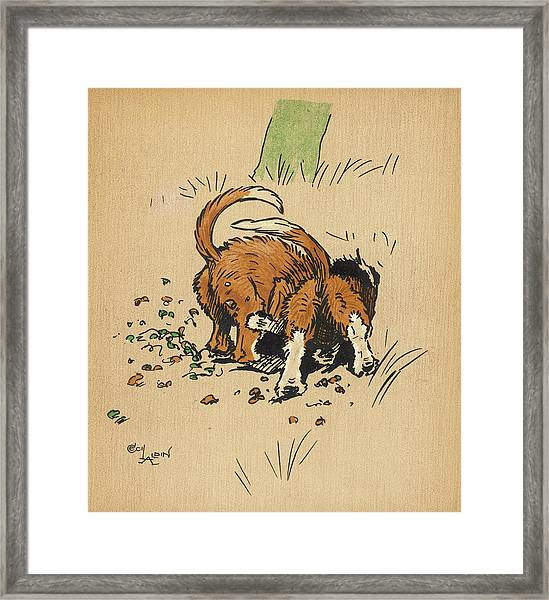 Twin Puppies, Snip And Snap,  Try Framed Print