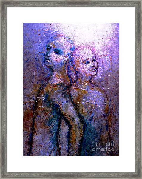 Twin Souls 1 Framed Print