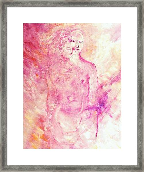 Twin Souls Framed Print