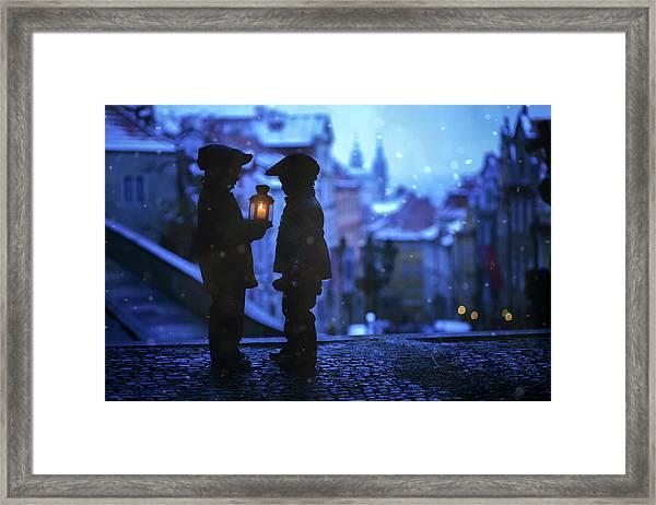 Twinkle Twinkle Little Flame Framed Print by Tatyana Tomsickova