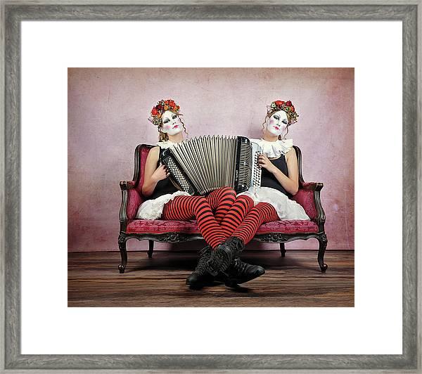 Twins Framed Print by Monika Vanhercke