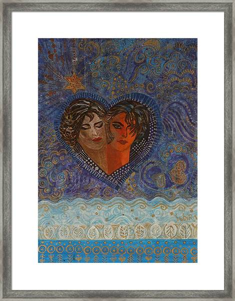 Twinsouls, 2007 Mixed Media Framed Print