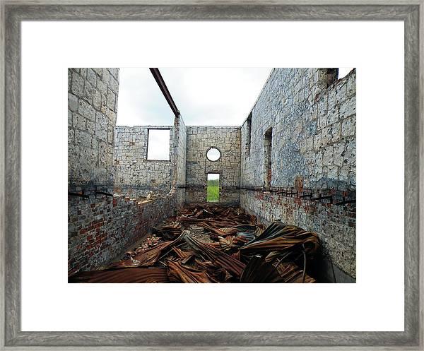 Twisted Corridor Framed Print
