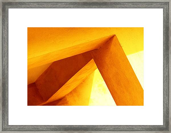 Twisted Geometry  Framed Print