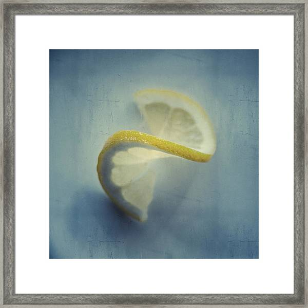 Twisted Lemon Framed Print