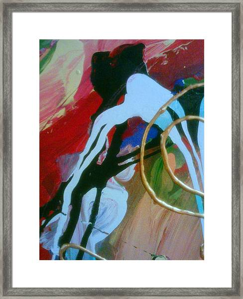 Framed Print featuring the painting Twisted Mind by Ray Khalife