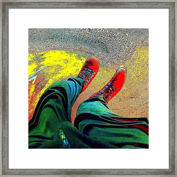 Twisted Rrred Framed Print