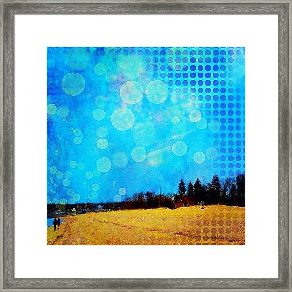 Two At Twilight #instaphoto #altered Framed Print